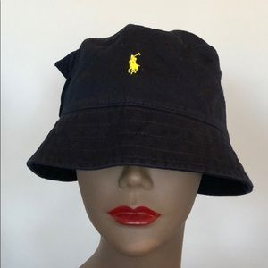 Polo Bucket Hat w/ pocket on the side